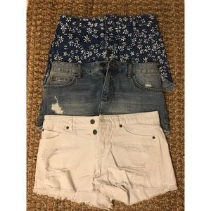 Billabong and volcom shorts